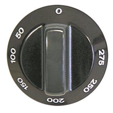 Alpeninox Knebel für Thermostat ø 59mm Symbol 50-275°C schwarz