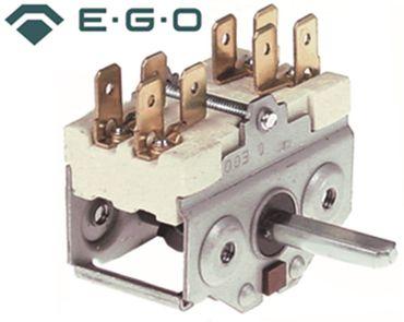 EGO Nockenschalter 2-polig für Bratpfanne Achse 6x4,6 m x 23mm