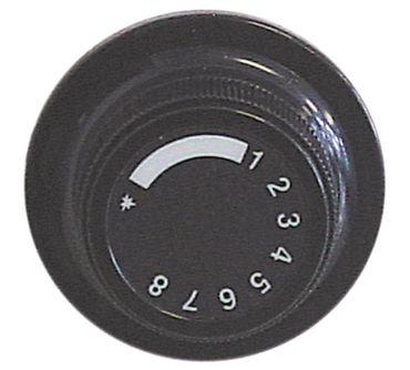 Elframo Knebel für Fritteuse GWD12, GW12, GWD20 ø 52mm schwarz