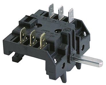 Eloma Nockenschalter für Heiße Theke 3-polig Achse ø 6x4,6x23mm 4NO