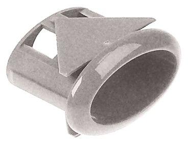 Amatis Elemententräger für Drucktasten 11x21mm weiß gewölbt