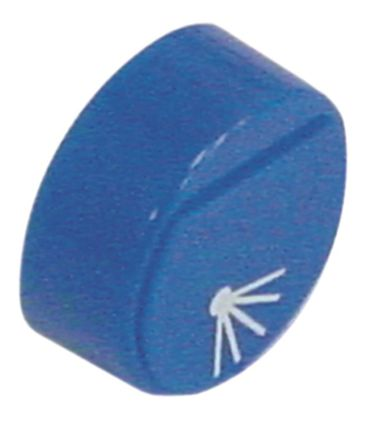 Comenda Drucktaste blau Nachspülung für Spülmaschine ohne Linse