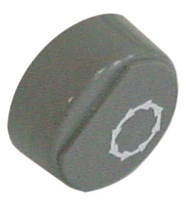 Comenda Drucktaste grau Start für Spülmaschine ohne Linse