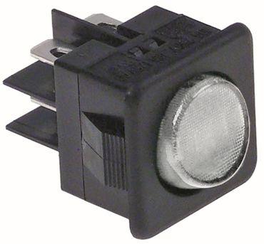 Alpeninox Wippenschalter Anschluss Flachstecker 6,3mm 2-polig 2CO