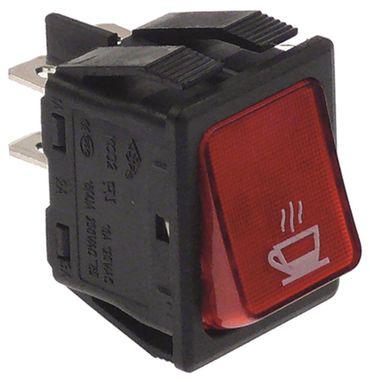 BFC Wippenschalter für Espressomaschine Antea-2gr, ssica-1gr rot