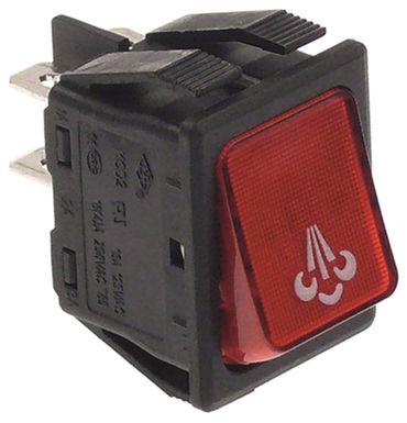 Brasilia Wippenschalter für MINIPODS 2-polig 250V 2NO rot 16A