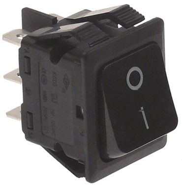 Fagor Wippenschalter Einbaumaß 30x22mm 2NO 2-polig 230V schwarz