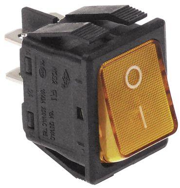 Fagor Wippenschalter beleuchtet Einbaumaß 30x22mm 2NO 2-polig 250V gelb
