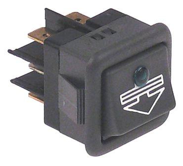 Comenda Wippentaster für Spülmaschine Anschluss Faston 6,3mm 2CO