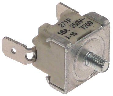 Anlegethermostat 1-polig 1NC 200°C Anschluss F6,3 Befestigung M4