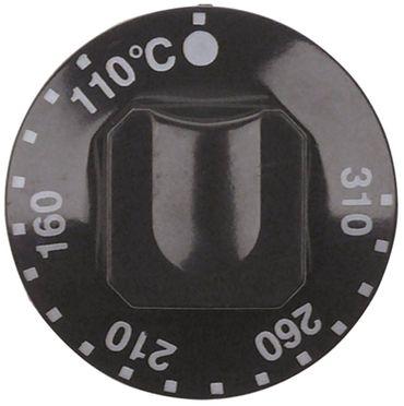 Alpeninox Knebel ø 55mm Symbol 110-310°C Achsabflachung oben