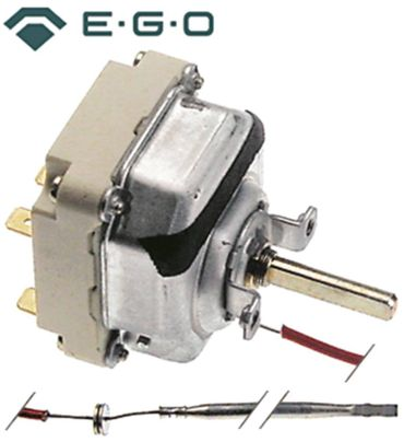 EGO 55.34033.801 Thermostat für Fritteuse Zanussi Serie N700 3NO