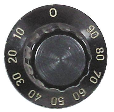 Alpeninox Knebel ø 43mm Symbol 90min für Achse ø 6x4,6mm