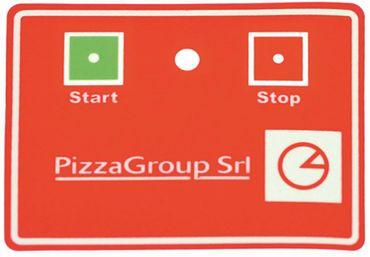Tastaturfolie für Teigausrollmaschine Pizza-Group P30, P40, P40A
