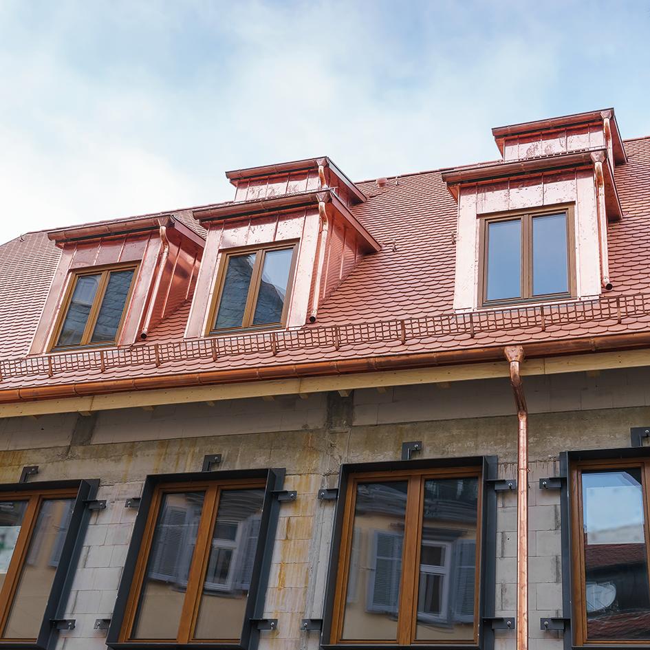 Toit, mur et façade