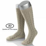 Kniestrumpf Herren Socken beige 001