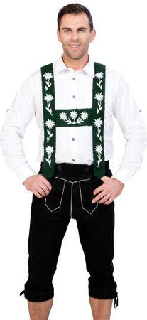 Almwerk Herren Trachten Kniebund Lederhose Modell Allgäu in schwarz
