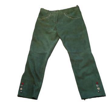 Almwelt Damen Lederhose 3/4 in grün