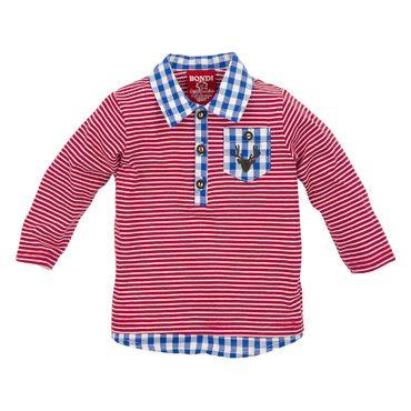 Bondi Poloshirt gestreift rot/weiss 90702