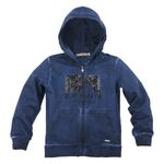 Bondi Sweatjacke Blue Papaya navy/rot 001