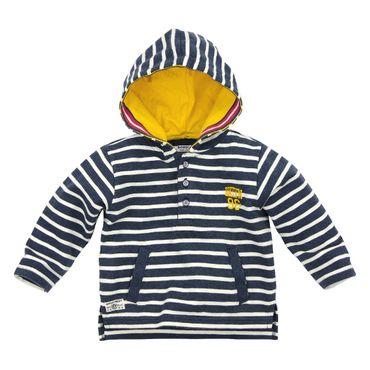 Bondi Kapuzen Sweatshirt gestreift navy/offwhite