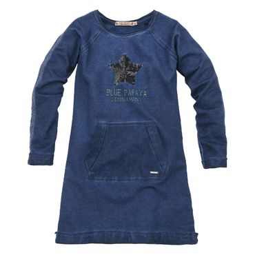 Bondi Sweatkleid STAR navy/rot