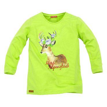 Bondi T-Shirt langarm Miss Alpenglück grün