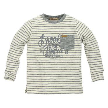 Bondi T-Shirt gesreift offwhite/graphit