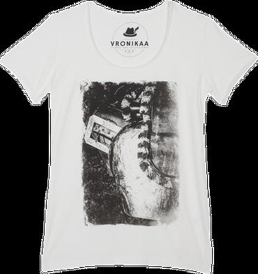 Vronikaa Damen T-Shirt Schelle grau
