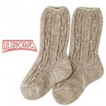 Lusana Kinder Schoppersocke L1962 beige meliert  001
