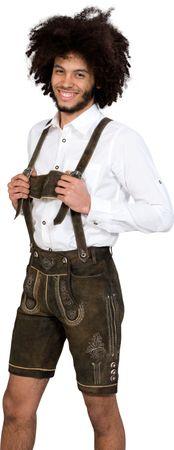 Almwerk Herren Lederhose kurz Modell Hansi Mid Night