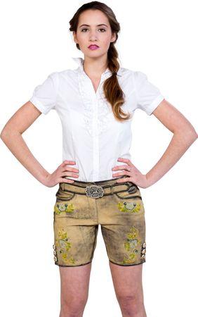 Almwerk Damen Lederhose kurz Modell Sofia