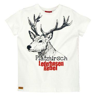 """Bondi T-Shirt """"Hirsch"""" weiss"""