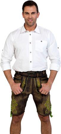 Almwelt Herren Lederhose kurz Modell Schorsch 683 lightgreen