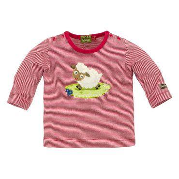"""Bondi T-Shirt gestreift """"Bergliebe"""" rot/offwhite"""
