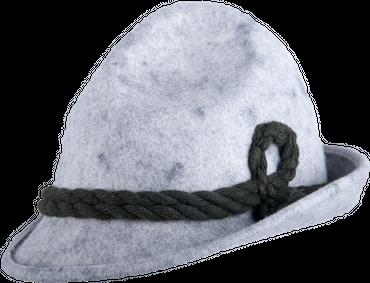 Trachten Dreispitz-Hut grau