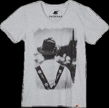 Vronikaa Herren T-Shirt Hirte grau
