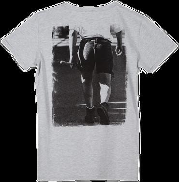 Vronikaa Herren T-Shirt Lederhose grau