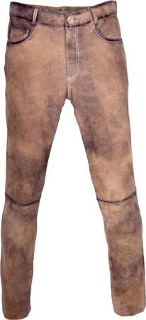 Almwelt Herren Trachten Lederhose lang Hubertus in hellbraun, braun und altschwarz