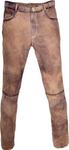 Almwelt Herren Trachten Lederhose lang Hubertus in hellbraun, braun und altschwarz 001