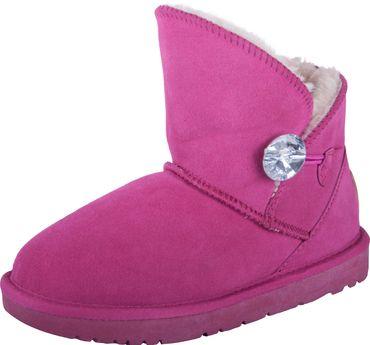 Almwelt Damen Winter-Stiefel Boots kurzschaft aus Echtleder warm gefüttert in verschiedenen Farben
