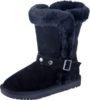 Almwerk Damen Winter-Stiefel Boots Schlupf-Stiefel aus Echtleder warm gefüttert in verscheidenen Farben
