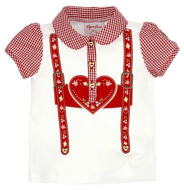 Bondi Poloshirt Hosenträger 85800 weiß-rot