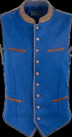Kaiseralm Herren Weste Berg 5904 blau