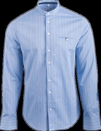 Gweih&Silk Herren Hemd Starnbergersee blau