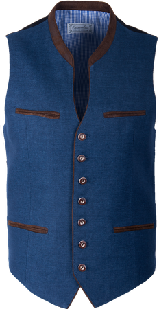 Kaiseralm Herren Weste Bogen 5213 blau