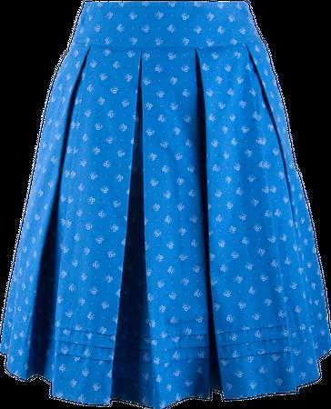 Kaiseralm Damen Faltenrock Hedwig 5228 blau