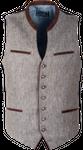 Kaiseralm Herren Weste Bogen 5213 grau-grün 001
