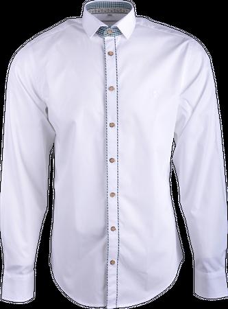 Gweih&Silk Herren Hemd GS06 162 ws/grün