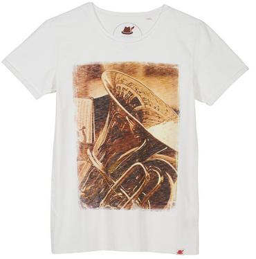 Vronikaa Herren T-Shirt Tuba offwhite